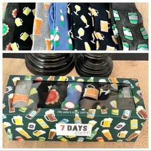 🆕Men's 7pk- 7 Days Beer Socks